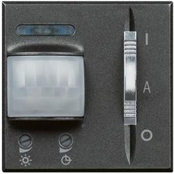 Senzor miscare Bticino HS4432 Axolute - Senzor infrarosu, 2M, 230V, 6A, negru