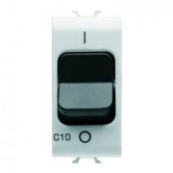 Siguranta Gewiss GW10462 Chorus - Disjunctor modular, 1M, 1P, 10A, curba C, 3kA, alb