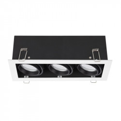 Spot Arelux XTechno TC03 MWH/BK - Corp iluminat fara bec 3X50W 12V GU5.3 IP20 MWH/BK, alb/negru