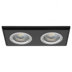 Spot Kanlux 19360 MORTA - Spot incastrat, fix Gx5,3, 2x50W, 12V, IP20, sticla neagra