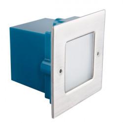 Spot Kanlux 26460 TAXI - Corp iluminat incastrat pentru trepte, 0,6W, 3000k, IP54, SMD, inox periat