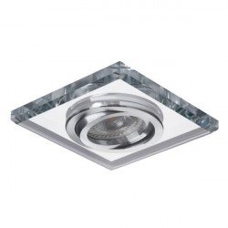 Spot Kanlux 26718 MORTA - Spot incastrat, directional GU10, 1x35W, IP20, argintiu