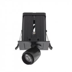 Spot LED Arelux XMicro Recessed MC03NW BK - Corp iluminat cu LED 3W 700mA 4000K 36grd. BK (5f), negru