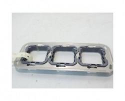 Suport Bticino H4732/3 Axolute - Suport 2+2+2 module, st german, din plastic, dist interax 57mm, cu surub