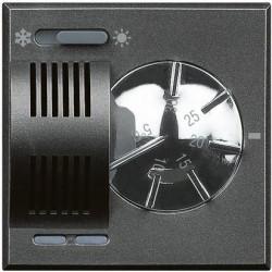 Termostat Bticino HS4442 Axolute - Termostat de ambianta cu inversor vara/iarna, 230V, 2 module, negru