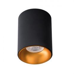 Aplica Kanlux 27571 riti - Plafoniera spot GU10, max 25W, negru/auriu