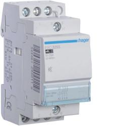 Contactor modular Hager ESC428S - CONTACTOR SIL., 25A, 3ND+1NI, 230V
