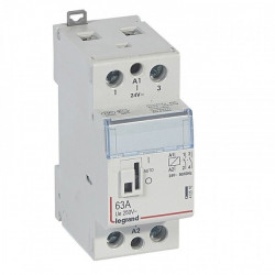 Contactor modular Legrand 412527 - CX3 CT 230V 2P 250 V~ - 63 A - 2 N/O