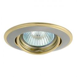 Corp iluminat Kanlux 2830 HORN CTC-3115 - Spot incastrat directional, Gx5,3, max 50W, 12V, IP20, argintiu/auriu