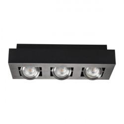 Corp iluminat Kanlux STOBI 26834 - Plafoniera led 3x25W, Gu10, IP20, negru/inox