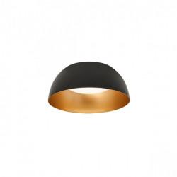 Corp iluminat Redo 01-1725 Blair - Plafoniera led, 25W, 3000k, 1783lm, IP20, D=380cm, negru auriu
