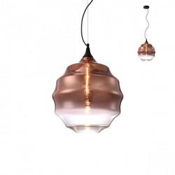 Corp iluminat Redo 01-1846 Slick - Lustra, max 1x42W, E27, IP20, sticlă suflată cupru degrade.