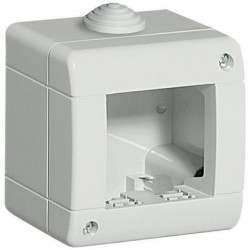 Doza aparenta Bticino 24402 Living Light - Doza aparenta IP40, 2 module, alba