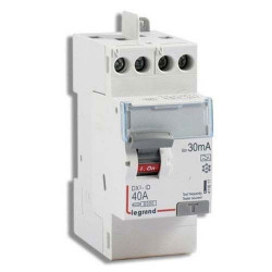 Intrerupator automat Legrand 411611 - DX3-ID 2P 40A AC 30MA TG