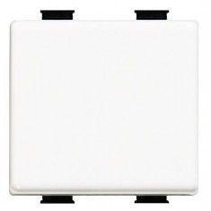 Intrerupator Bticino AM5005/2A Matix - Buton ND 10A - 250V cu simbol lampa, 2 module, alb