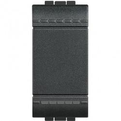 Intrerupator Bticino L4001A Living Light - Intrerupator simplu 16A - 250V, 1 modul, borne automate, negru