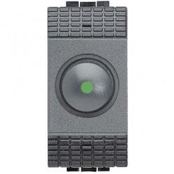 Intrerupator Bticino L4402N Living Light - Variator rotativ cap scara, 60W-500W, 1M, 250V, negru