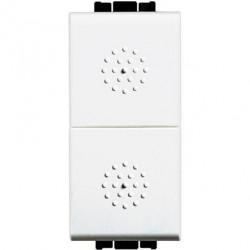 Intrerupator Bticino N4036 Living Light - Intrerupator cu revenire cu buton dublu, 250V, 10A, 1M, alb