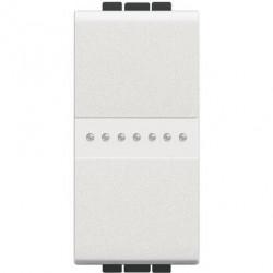 Intrerupator Bticino N4054 Living Light - Intrerupator cap cruce cu comanda axiala 16A - 250V, 1 modul, borne automate, alb