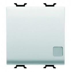 Intrerupator Gewiss GW10033F Chorus - Intrerupator simplu cu ind luminos, cablare rapida, 2M, 1P, 16AX, alb