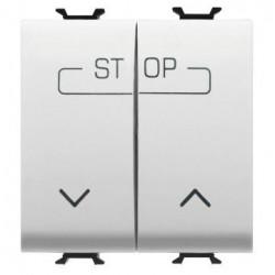 Intrerupator Gewiss GW10160F Chorus - Intrerupator cu revenire dublu, cablare rapida, 2M, 1P, NO, 16A, alb