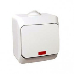 Intrerupator Schneider Cedar WDE000561 - Intrerupator cap scara cu indicator Luminos IP44, alb