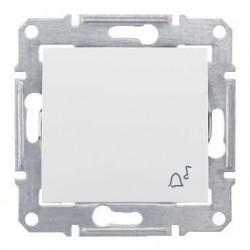 Intrerupator Schneider SDN0800323 Sedna - Intrerupator IP44 cu revenire cu simbol sonerie,10 AX - 250 V, crem