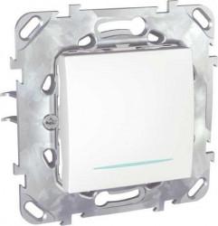Intrerupator Schneider Unica MGU50.203.18NZ - Intrerupator cap scara cu led, 2M, alb