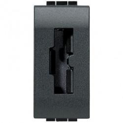 Priza Bticino L4115 Living Light - Priza de siguranta pentru stecher 2200NA sau 2200NN, standard italian , 2P+T, 10A, 1M, negru