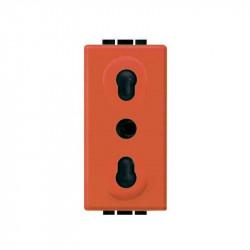 Priza Bticino L4180A Living Light - Priza standard italian, 2P+T, 16A, 1M, portocaliu