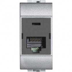 Priza Date Bticino NT4262C5E Living Light - Priza Rj45, UTP, Cat 5E, 1M, argintiu