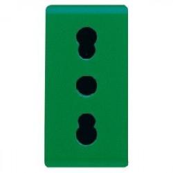 Priza Gewiss GW20281 System - Priza bivalenta standard italian 2PE 16A Verde