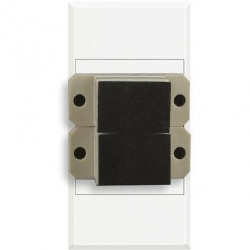 Priza Semnal Bticino HD4268SC Axolute - Conector fibra optica, 1M, alb