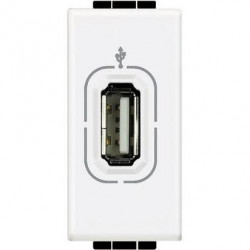 Priza semnal Bticino N4285 Living Light - Conector USB, 1M, alb