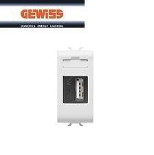 Priza semnal Gewiss GW10460 Chorus - Priza/incarcator USB,1M Alb