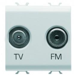 Priza TV/FM Gewiss GW10381 Chorus - Prita TV/FM, de capat, 2M ,alb