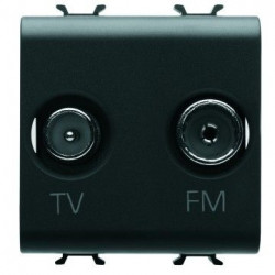 Priza TV/FM Gewiss GW12381 Chorus - Priza TV/FM, 2M , atenuare 0dB, nergu