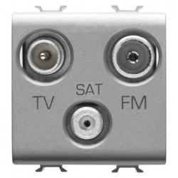 Priza TV/SAT/FM Gewiss GW14382 Chorus - Priza TV/SAT/FM de capat, 2M Titatnium
