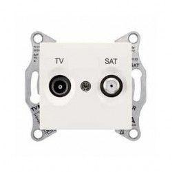 Priza TV/SAT Schneider SDN3401623 Sedna - Priza TV/SAT, de capat, atenuare 1dB, crem