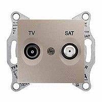 Priza TV/SAT Schneider SDN3401668 Sedna - Priza TV/SAT, de capat, atenuare 1dB, titan