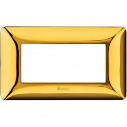 Rama Bticino AM4804GOR Matix - Rama 4 module auriu lucios