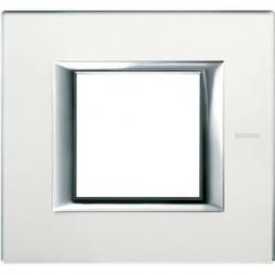 Rama Bticino HA4802VSA Axolute - Rama din sticla, rectangulara, 2 module, mirror glass