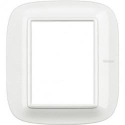 Rama Bticino HB4826HD Axolute - Rama metalica, eliptica 3+3 module, st italian, axolute white