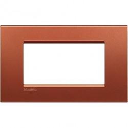 Rama Bticino LNA4804RK Living Light - Rama 4 module, rectangulara, din zamak, brick
