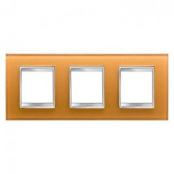 Rama Gewiss GW16226CO Chorus - Rama Lux International, 6M(2+2+2), sticla, oriz, ocru