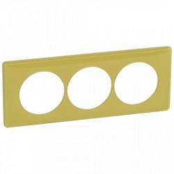 Rama Legrand 68829 Celiane - Rama 3 posturi, polimer, interax 57mm, bambus