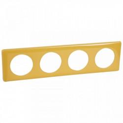 Rama Legrand 68844 Celiane - Rama 4 posturi, polimer, interax 71mm, mandarin