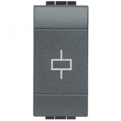 Releu Bticino L4330/230 Living Light - Releu independent monostabil, 230V, 1M, 10A, negru