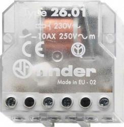 Releu Finder 260180120000 - Releu de impuls (pas cu pas) 12V, AC, 10A
