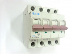 Siguranta automata Eaton 165180 - DISJUNCTOR PL7-C25/4 4P, 25A, 10kA, C